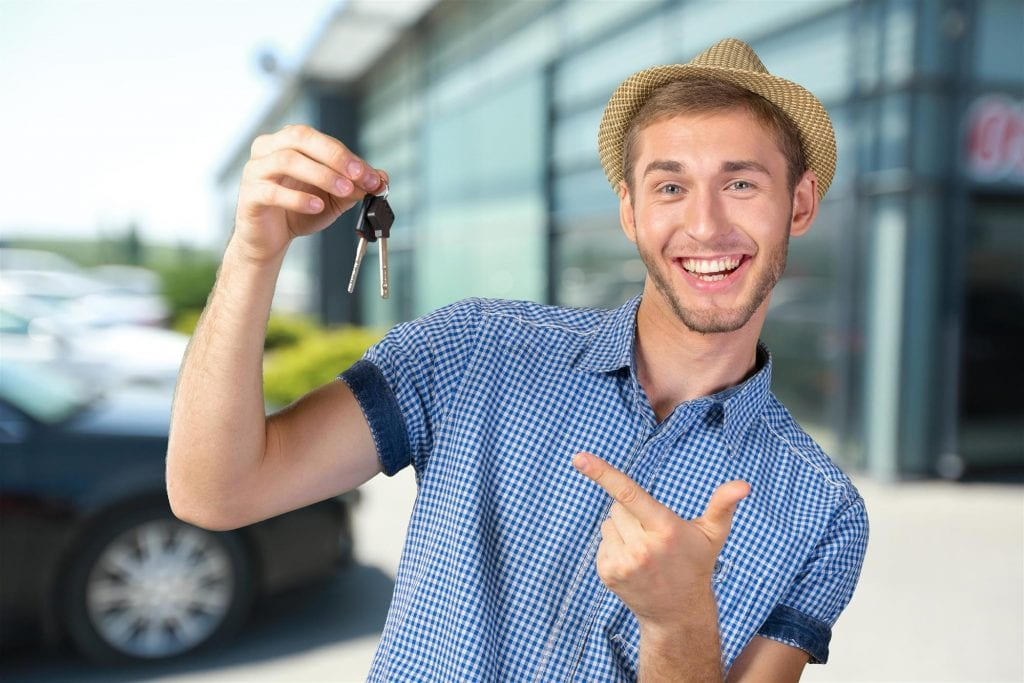 Man with Keys to New Car
